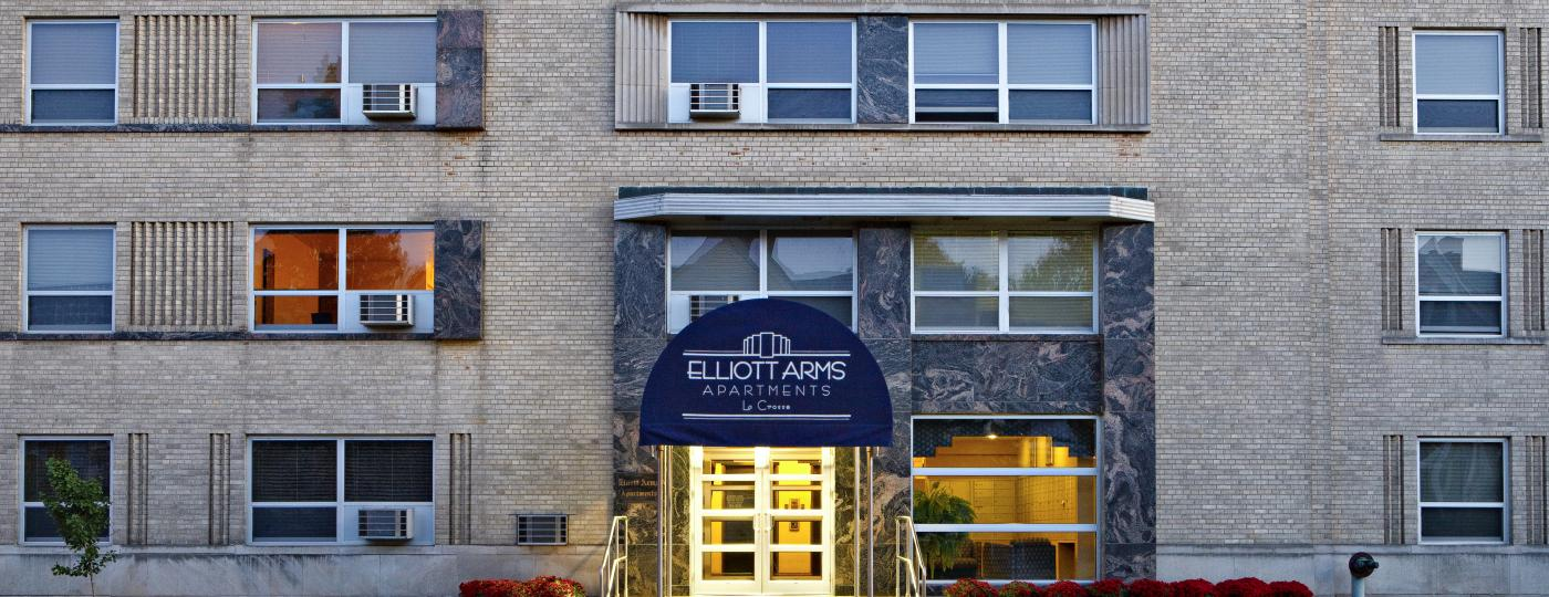 Exterior photo of Elliott Arms Apartments